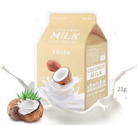 АП Маска для лица тканевая  A'PIEU Coconut Milk One-Pack (10702070/010819/0149789)