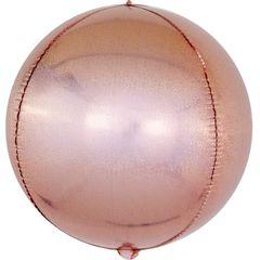К Сфера 3D, Розовое Золото, Голография, 24''/61 см, 1 шт.