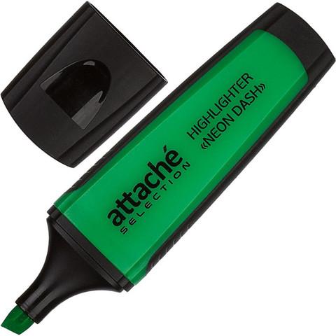 Текстовыделитель Attache Selection Neon Dash зеленый (толщина линии 1-5 мм)