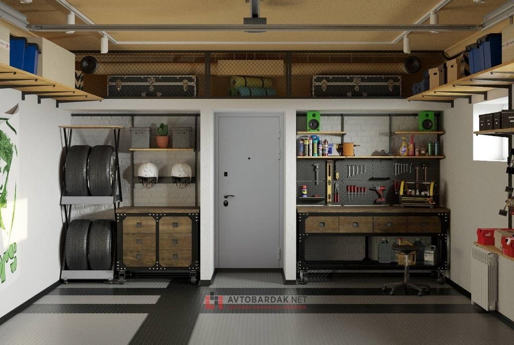 мебель в стиле лофт для гаража