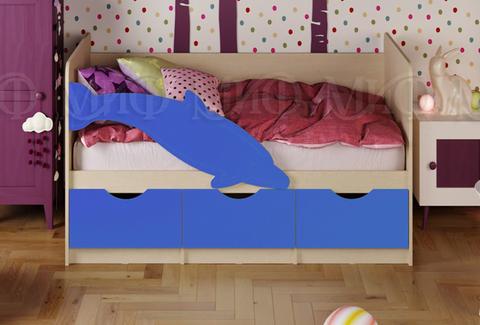 Кровать Дельфин-1 синий мат.