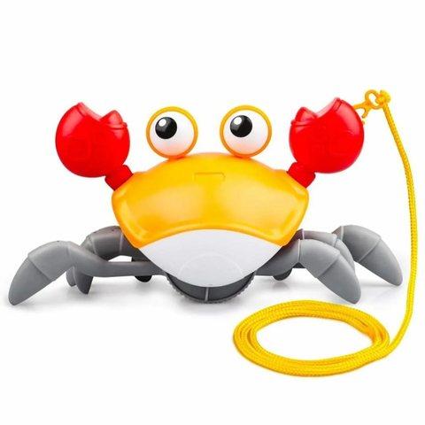 Заводная игрушка «Бегающий краб» Игрушка для воды и суши (желтый)