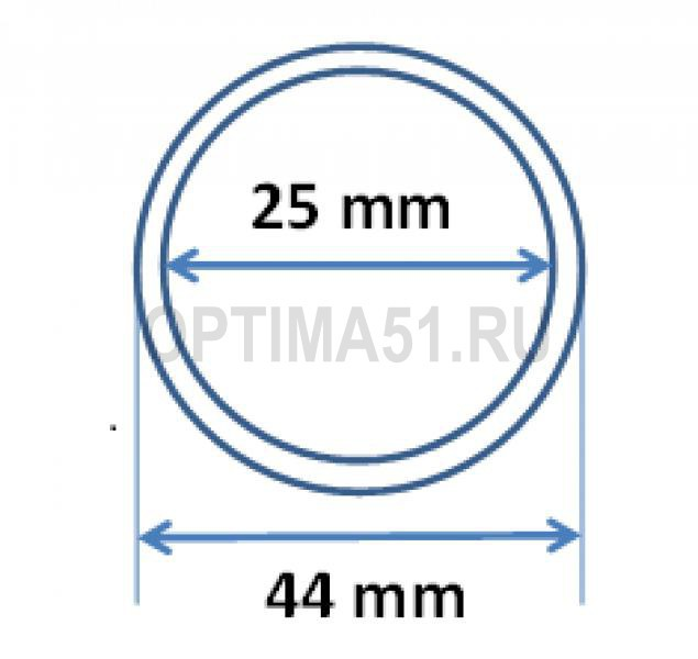 Капсула для монеты 1 руб. серебро. 25/44 mm стандарт ЦБ РФ