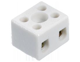Высокотемпературная керамическая клемма 2 х 2,5 мм², с крепежным отверстием