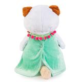 Кошечка Ли-Ли в мятном платье с розовой сумочкой