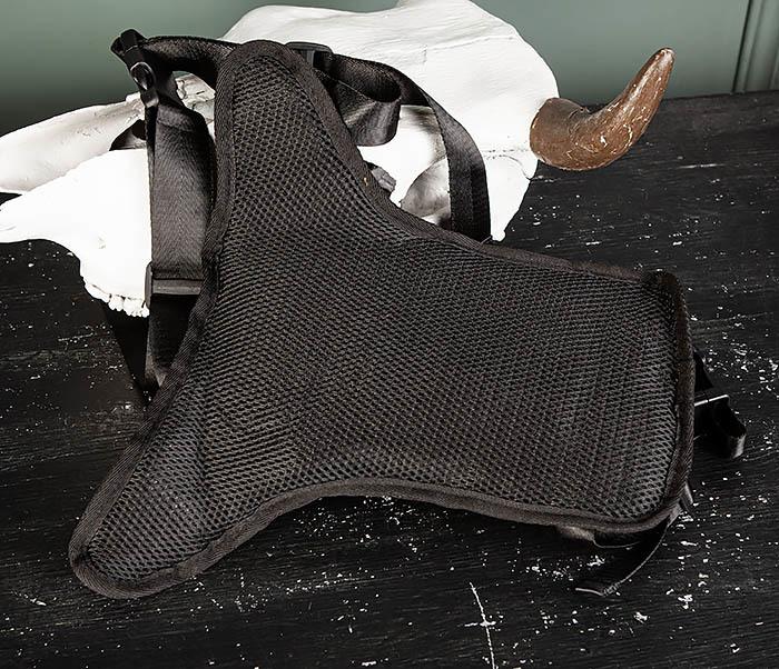 BAG505-1 Большая сумка на бедро из ткани «Оксфорд» черного цвета фото 05