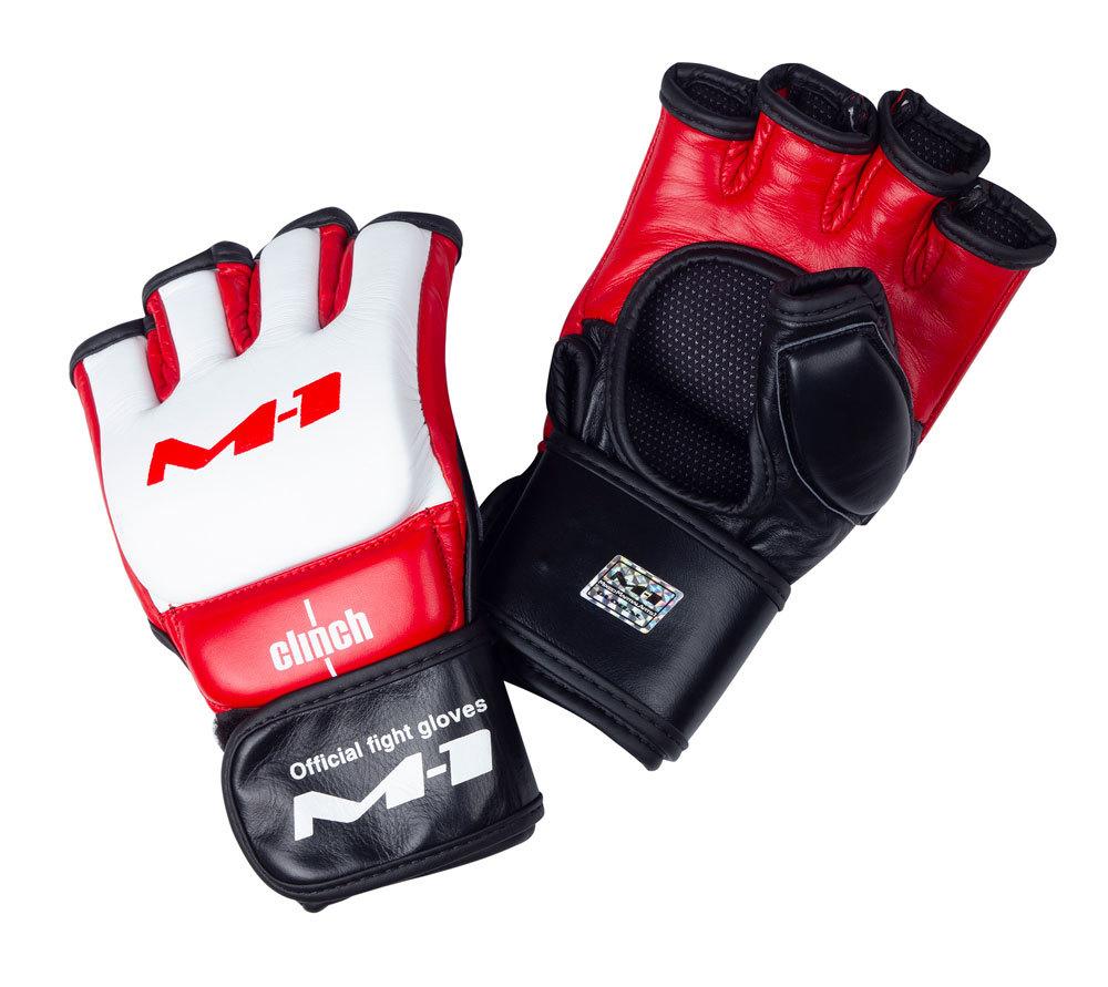ММА перчатки Перчатки для смешанных единоборств Clinch для M-1 Global perchatki_dlya_smeshannykh_edinoborstv_clinch_m1_global_official_fight_gloves_belo_krasno_cherny.jpg