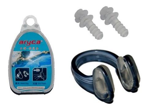 Набор для плавания ( беруши + зажим носа ) в коробочке. :C-0317:
