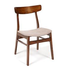 Стул Rabat  8804 с мягким сиденьем ( Тёмный Дуб, ткань бежевая (FG22616-16))