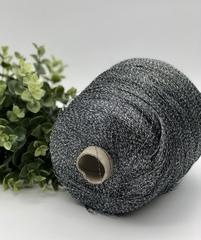 Вискоза с люрексом ILARIA CALENZANO ASTRO 2300 серо-графитовый с серебром (эффект мулине)