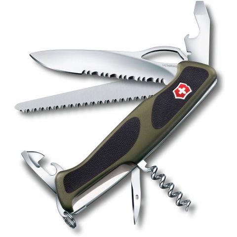 Нож перочинный Victorinox RangerGrip 179 (0.9563.MWC4) 130мм 12функций зеленый/черный