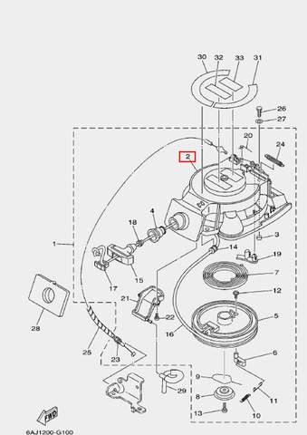Корпус стартера для лодочного мотора F20 Sea-PRO (10-2)
