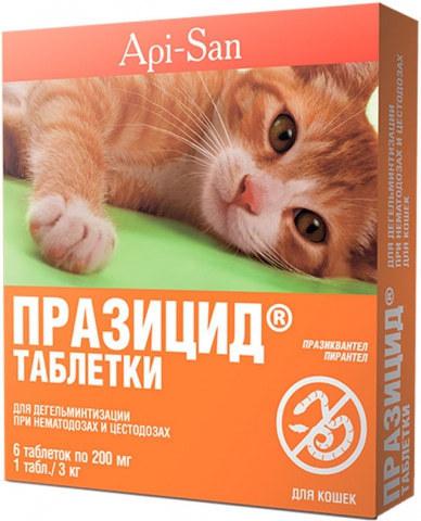 Празицид для кошек 6 таб.