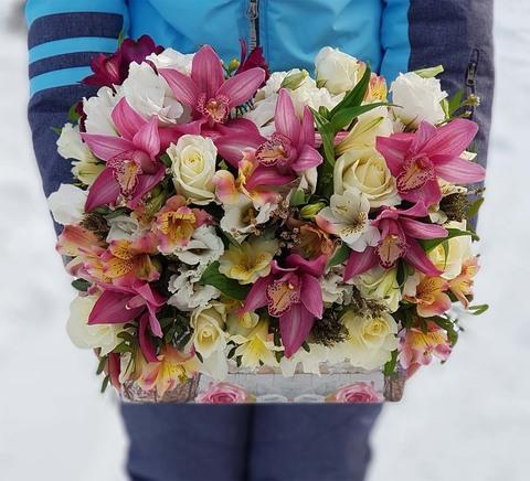 Ящик с цветами Январь 1