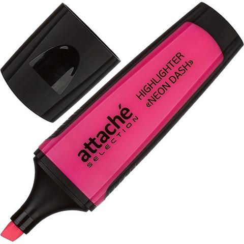Текстовыделитель Attache Selection Neon Dash розовый (толщина линии 1-5 мм)