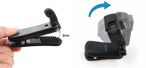 Крепление прищепка для экшн-камер Telesin GP-JFM-003