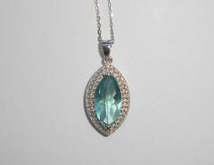 Ожерелье с топазами, 41,5-44,5 см