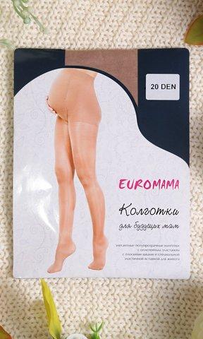 Евромама. Колготки для беременных гладкие, 20 Den телесный вид 1