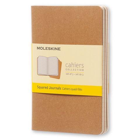 Блокнот Moleskine CAHIER JOURNAL QP412 Pocket 90x140мм обложка картон 64стр. клетка бежевый (3шт)
