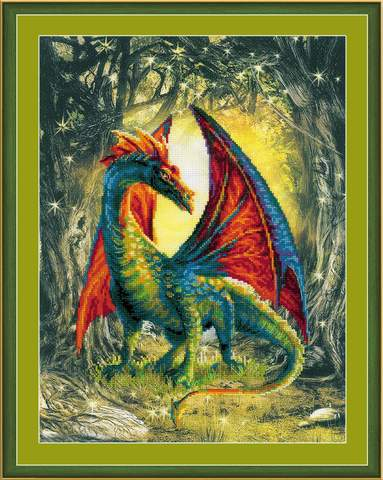 Набор для вышивания крестом «Лесной дракон» (0057 РТ)