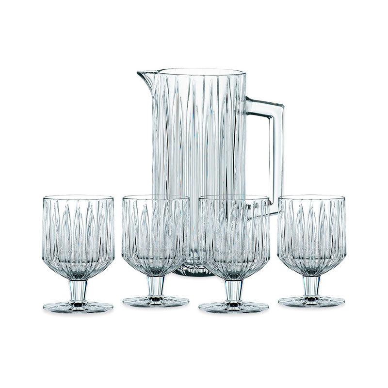 Набор для напитков Jules из 4 хрустальных бокалов и кувшина, Nachtmann (102708)