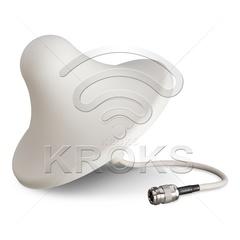 Всенаправленная (круговая) потолочная антенна GSM 900/1800 3дБ KDA5-600/6500