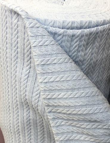 Полотно вязаное. Ярко-голубой. (100% хлопок).