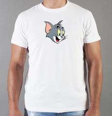 Футболка с принтом мультфильма Tom and Jerry (Том и Джерри), белая 009