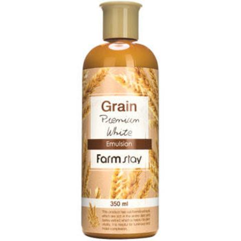 FarmStay Выравнивающая эмульсия с экстратом ростков пшеницы FarmStay Grain Premium White Emulsion 350 мл