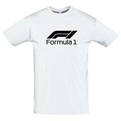 Футболка с принтом Формула-1 (Гонки/ F1/ Formula 1) белая 008