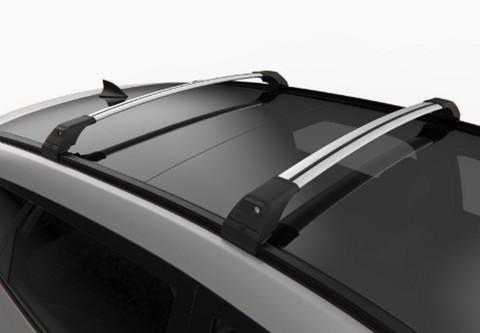 Багажник Turtle Tourmaline V2  106 см. на низкие рейлинги (серебристый или чёрный цвет).