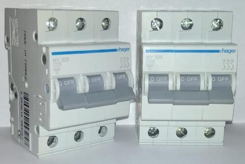 арт. MY325; Автоматический выключатель 3P 4,5kA C-25A 3M