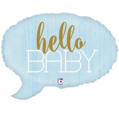 Б Фигура, Hello Baby (Привет малыш), Спич Бабл Голубой, 24