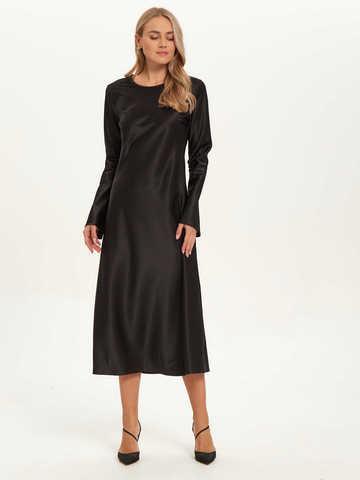 Черное платье из армани-шелка