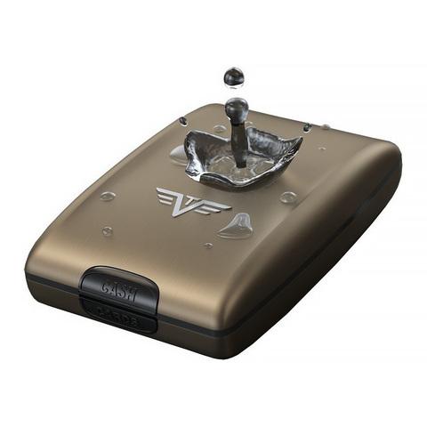 Кошелек c защитой Tru Virtu Oyster 2, черный, 110x69x28 мм