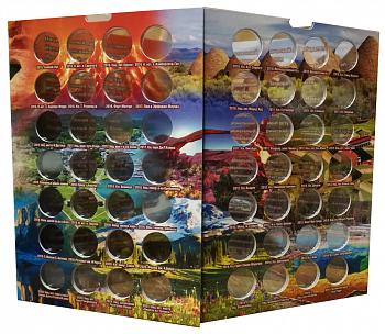 Альбом-коррекс для 25-центовых монет США (2010-2021 гг). Прекрасная Америка