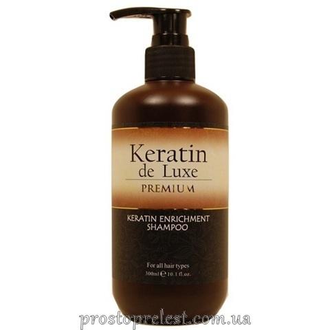 De Luxe Keratin Enrichment Shampoo - Шампунь відновлюючий з кератином