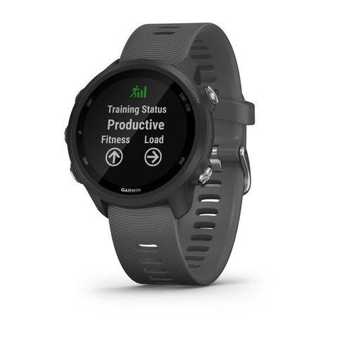 Купить Часы для бега Garmin Forerunner 245 черный с серым ремешком (010-02120-10) по доступной цене