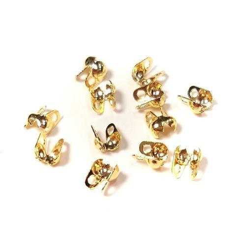 Зажим концевик каллота 3 мм цвет золото цена за 10 шт