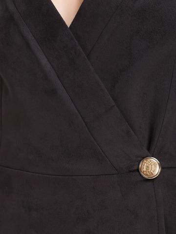 Короткое замшевое платье, черное 3