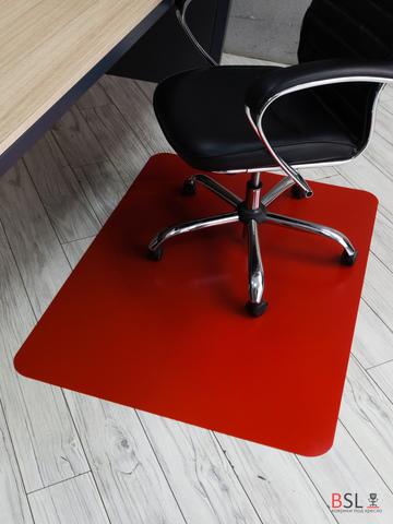 Защитный коврик под кресло 1000x1200 мм красный