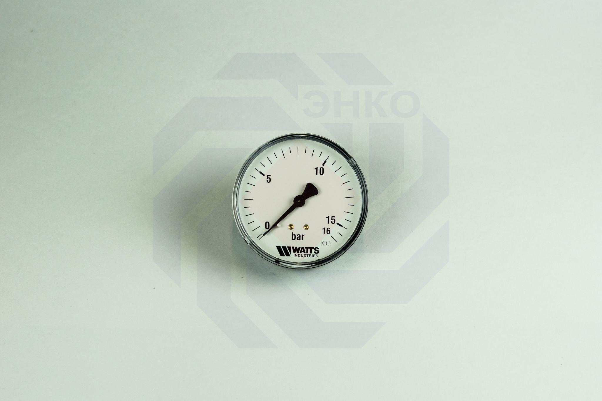Манометр аксиальный WATTS MDA 80/16 (F+R150) 0-16 бар 80 мм ¼
