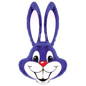 Фольгированный шар Кролик фиолетовый 100 X 56см