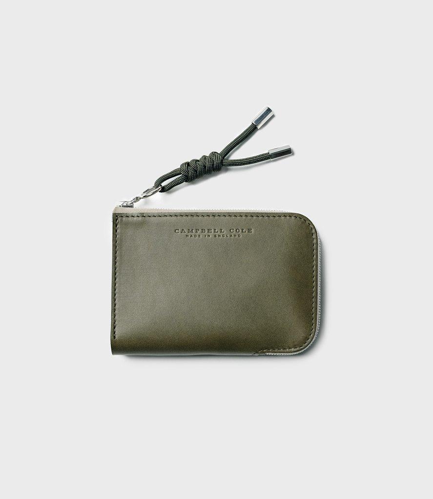 Campbell Cole Simple Zip Corner Wallet Khaki