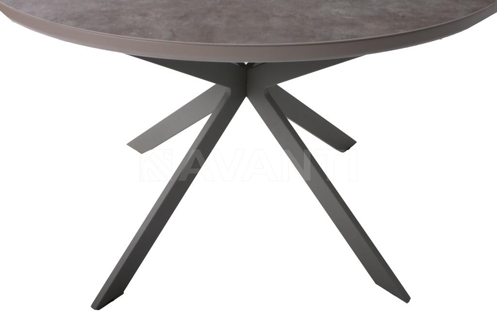 Стол обеденный ASTRA (120) MATT MOKKA/LATTE (сатин мокка/латте)