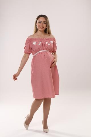Платье для беременных 09439 красный