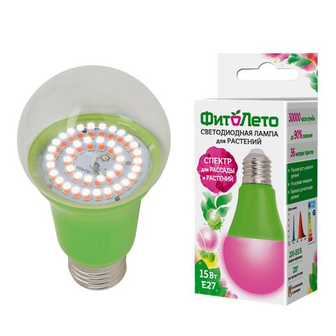 LED-A60-15W/SPSB/E27/CL PLP30GR Лампа светодиодная для растений. Форма