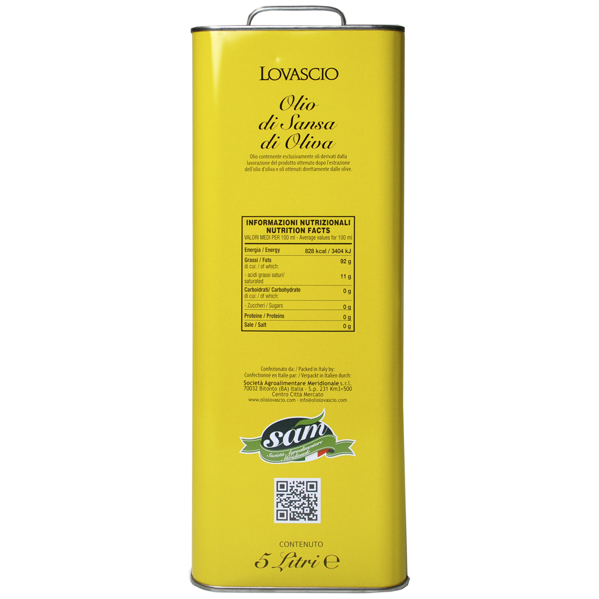 Оливковое масло Sansa 5л Lovascio