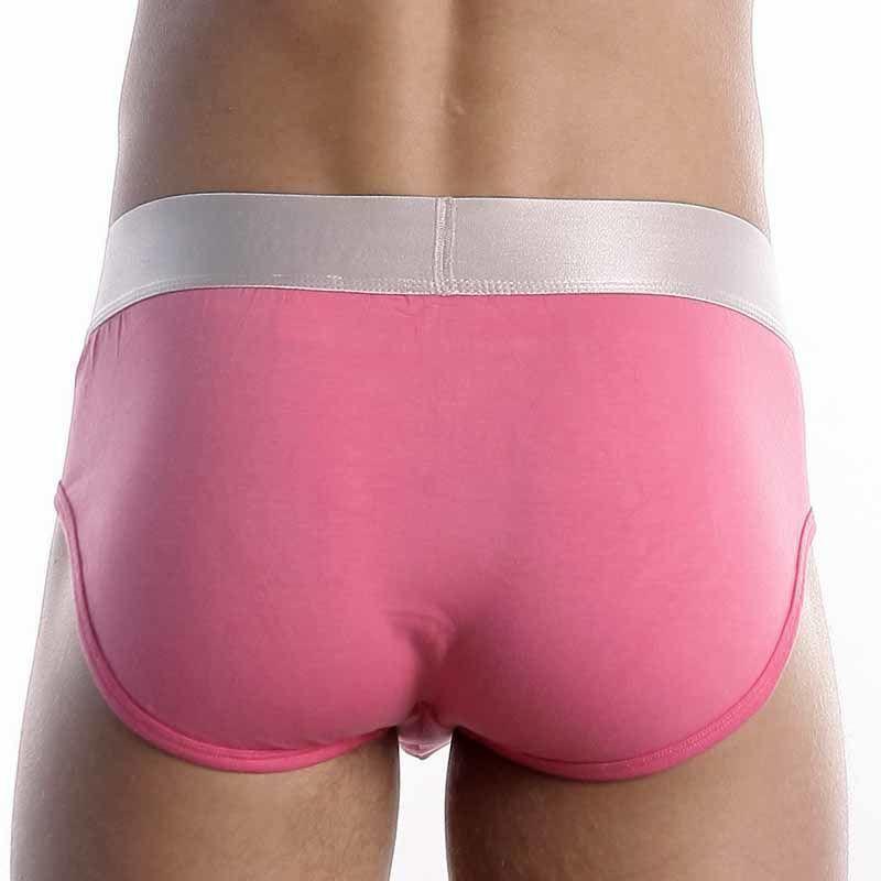 Мужские брифы розовые из модала Calvin Klein Steel Modal