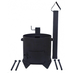 Печь с дымоходом для казана 10л